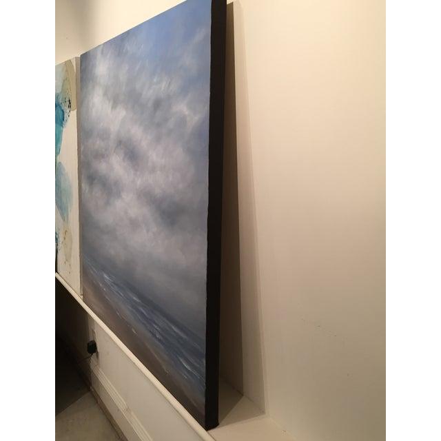 Image of Coastal Fog Mixed Media Painting