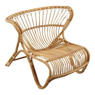 "New Natural Rattan ""Fox"" Chair by Viggo Boesen"