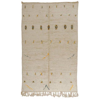 Yellow & Navy Accents Moroccan Rug - 6′4″ × 10′3″