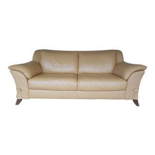 "NATUZZI Italian Leather Sofa 86""W"