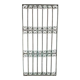 Antique Victorian Verdigris Iron Gate or Garden Fence