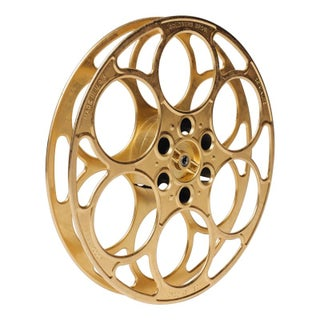 Decorative Brass Film Reel