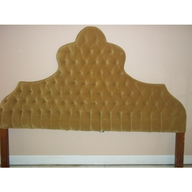 Vintage 1960s King Size Tufted Headboard - Image 2 of 7