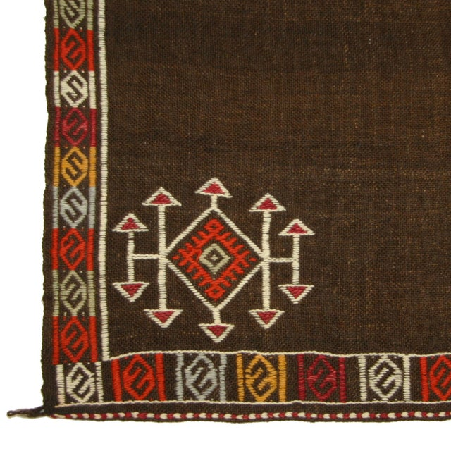Vintage Turkish Cicim Sofreh Kilim - 3'6 X 3'7 - Image 3 of 3