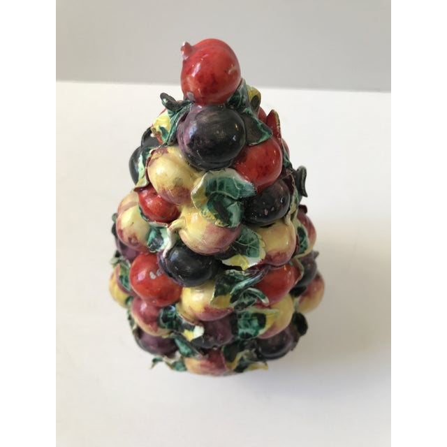 Vintage Porcelain Italian Fruit Topiary - Image 2 of 9