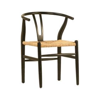 Black Woven Oak Chair