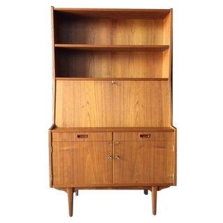 Mid-Century Danish Teak Hutch Bar Secretary