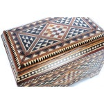 Image of 19th Century Syrian Inlaid Wooden Treasure Chest