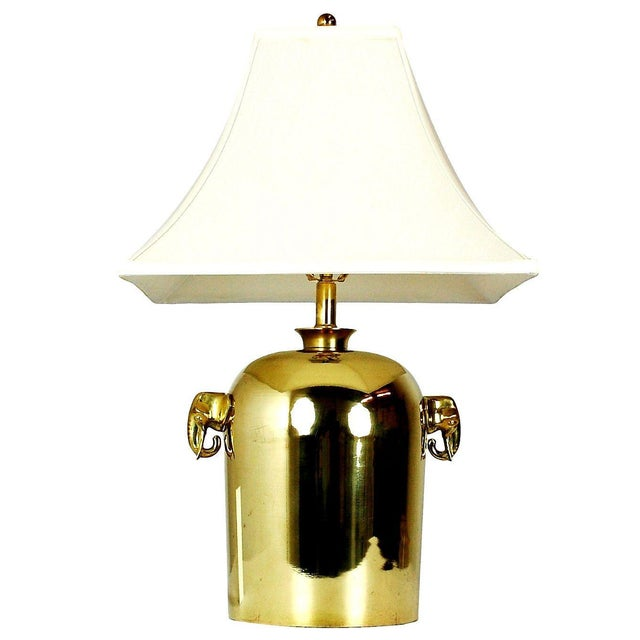 Mid-Century Brass Elephant Table Lamp - Image 1 of 5