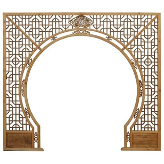 Chinese Arch-Shaped Wooden Panels - Set of 3