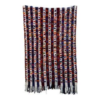 Vintage Handmade Modern Blue & Cream Stripe Kilim Rug - 4′ × 6′6''