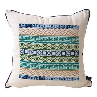 Mexican Stitched Folk Pillow Case