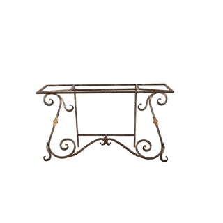 French Iron and Brass Console Table