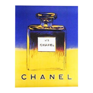 Blue & Yellow Andy Warhol for Chanel Poster