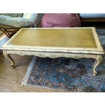 Image of Yellow Painted Wood French Country Coffee Table