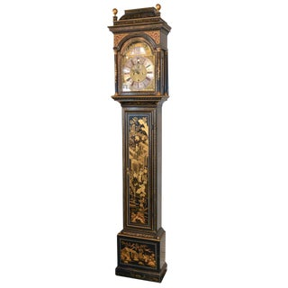 19th C. English Chinoiserie Tall Case Clock