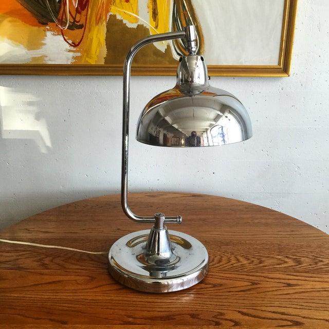 Art Deco Chrome Table Lamp - Image 2 of 5