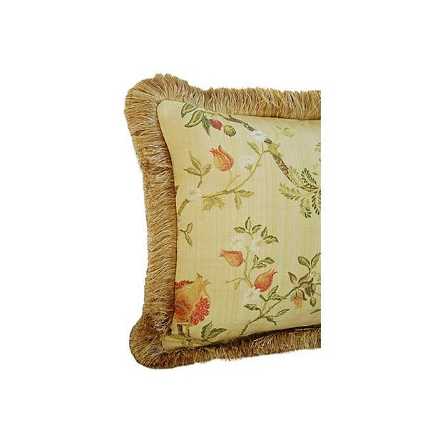 Italian Scalamandré Melograno Lampas Pillow - Image 4 of 7
