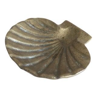 Mid-Century Brass Shell Trinket Tray
