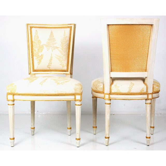 Cream & Gilt Accent Chairs by Baker - A Pair - Image 7 of 11