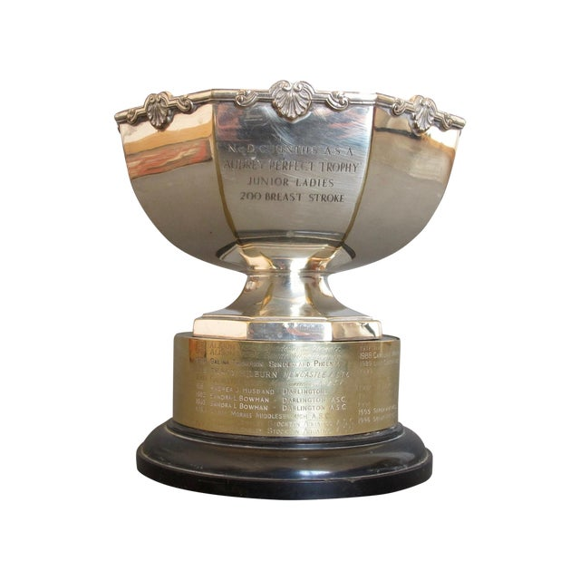 1970's Swimming Rose Bowl Trophy - Image 1 of 8