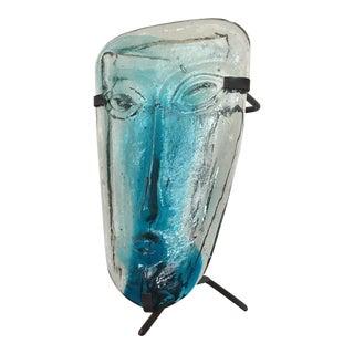 Erik Hoglund for Kosta Boda Glass Face Candle Holder