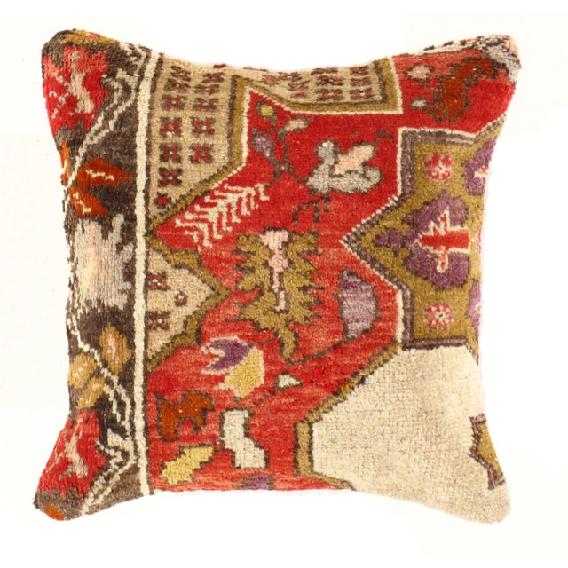 Pasargad Vintage Hand Knotted Rug Pillow - Image 1 of 2