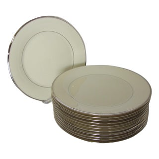 Lenox Solitaire Platinum Band Dinner Plates - Set of 12