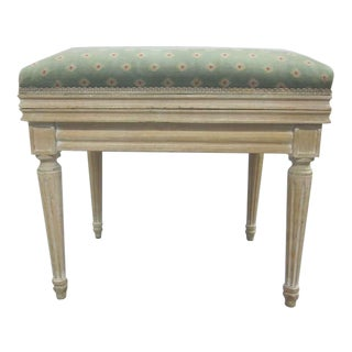Pair of French Louis XVI Style Cerused Oak Benches or Stools