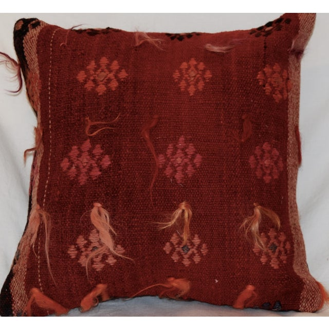 Vintage Handmade Wool Decorative Boho Pillow - Image 6 of 6