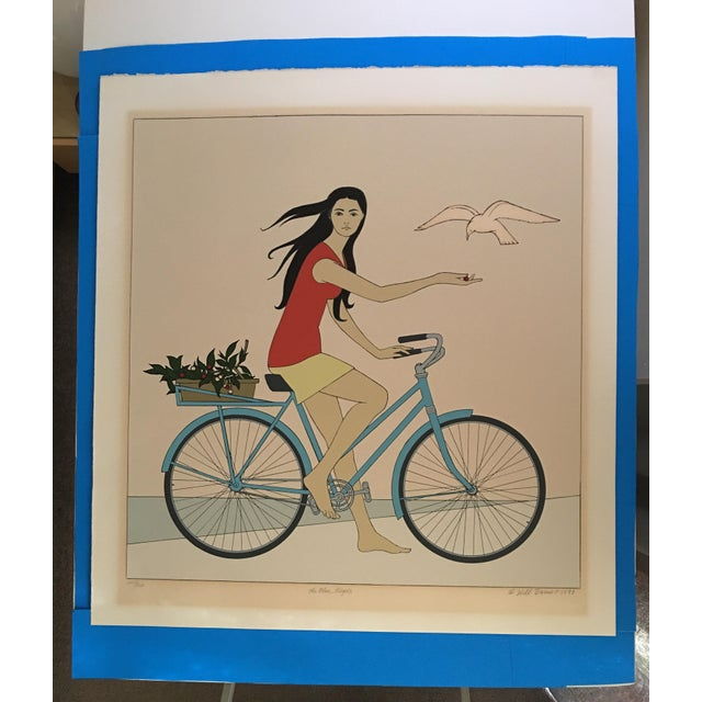 "Will Barnet ""Blue Bicycle"" Signed Serigraph - Image 2 of 11"