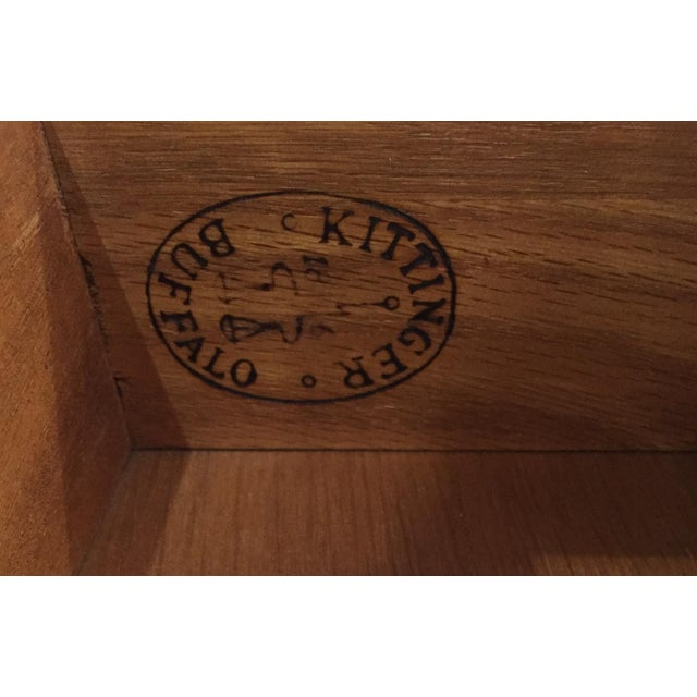 Mid-Century, Signed Kittinger Faux Bamboo Side Table - Image 8 of 8