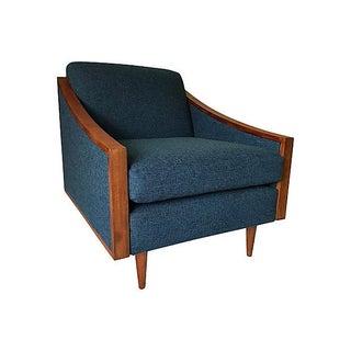 Blue Mid-Century Lounge Chair