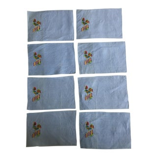 Vintage Rooster Cocktail Napkins - Set of 8