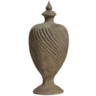 Architectural Carved Wood Urn