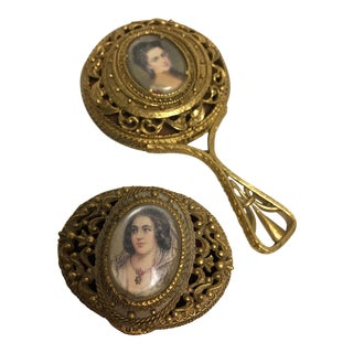 Florenza Portrait Hand Mirror & Trinket Box