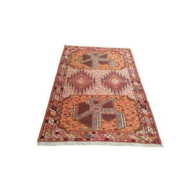 4′ × 6′6″ Silk Persian Hand Made Knotted Rug - Size Cat. 4x6 - Image 2 of 4
