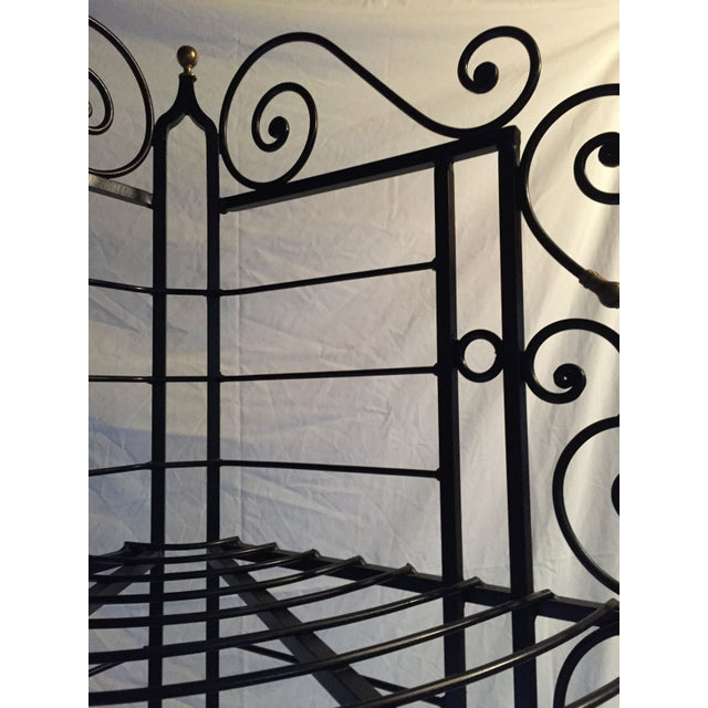 Vintage French Brass And Iron Corner Baker's Rack - Image 8 of 8