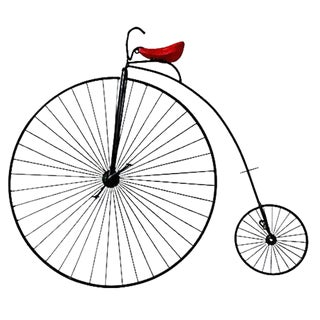Curtis Jere High Wheel Bicycle Wall Sculpture