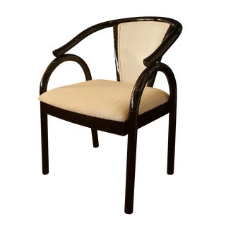 Chinoiserie Black Lacquer Armchair