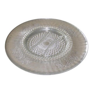 Vintage Aluminum & Glass Lazy Susan