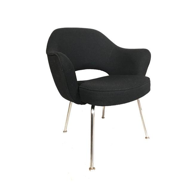 Knoll Eero Saarinen Executive Armchairs in Knoll Black Upholstery - a Pair - Image 2 of 4