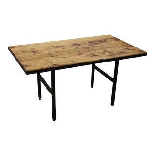 Black Ladder Metal Leg & Pine Top Table