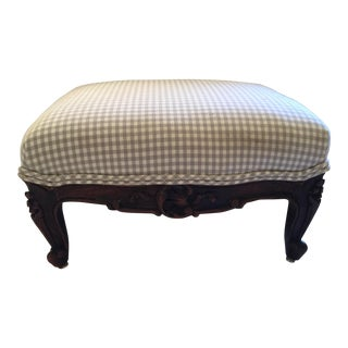 French Antique Carved Footstool