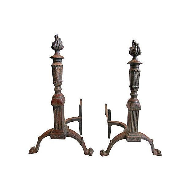 Andirons - Vintage Flametorch Andirons - a Pair - Image 1 of 2