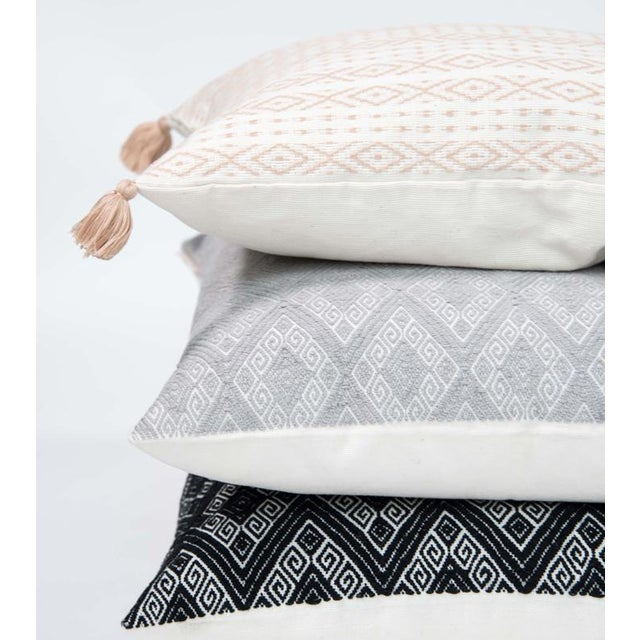 Blush Handwoven Mexican Pillow - Image 3 of 6