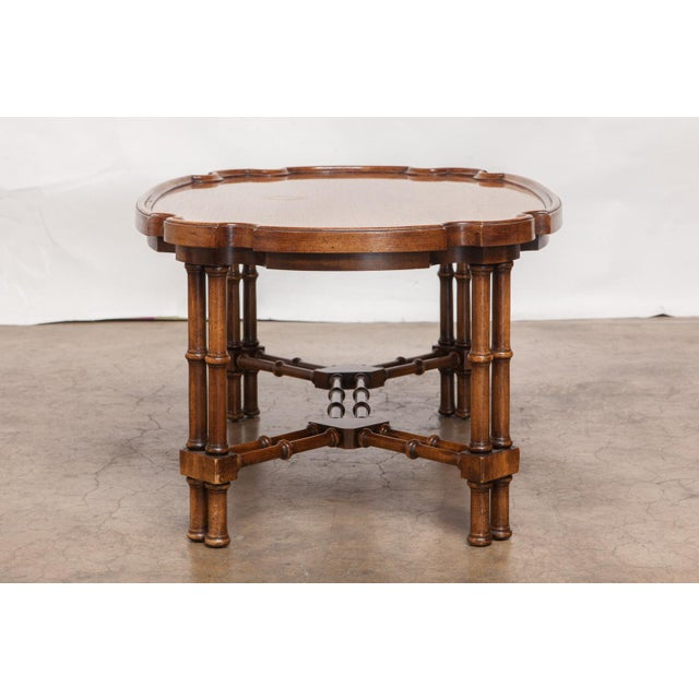Mid Century Modern Faux Bamboo Coffee Table Chairish