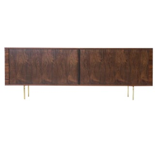 Danish Rosewood Low Credenza on Brass Legs