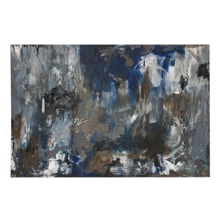 """Midnight Crossing"" Original Abstract Painting by Happy Fowler"