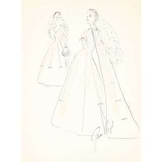 1950s Wedding Dress Original Illustration